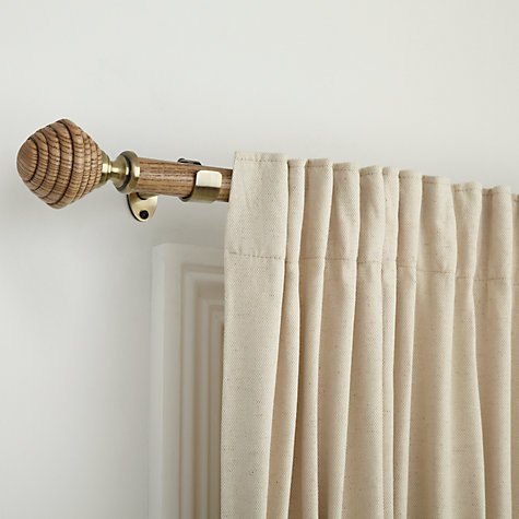 Buy John Lewis Light Ash and Antique Brass Curtain Pole Kits, Dia.28mm Online at johnlewis.com