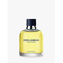 Buy Dolce & Gabbana Pour Homme Eau de Toilette, 125ml Online at johnlewis.com