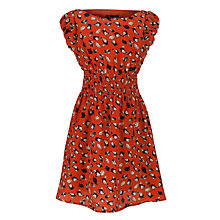 Buy Yumi Girls Bird Print Dress, Orange Online at johnlewis.com