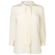 Buy Jaeger London Pussybow Blouse, Ivory Online at johnlewis.com