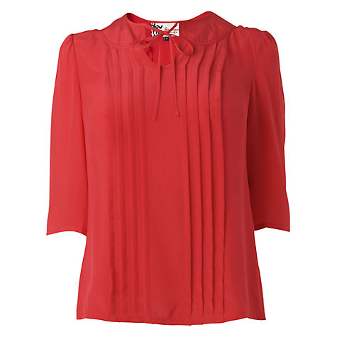Buy Boutique by Jaeger Clara Pleat Front Blouse Online at johnlewis.com