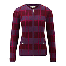 Buy Viyella Check Zip Cardigan, Multi Online at johnlewis.com