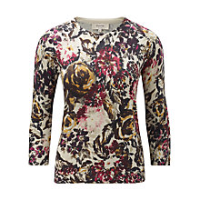 Buy Viyella Petite Floral Print 3/4 Sleeve Jumper, Multi Online at johnlewis.com