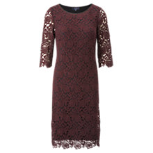 Buy Ella by Viyella Lace Dress, Bordeaux Online at johnlewis.com