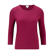 Buy Viyella Stitch Detail Top, Cranberry Online at johnlewis.com