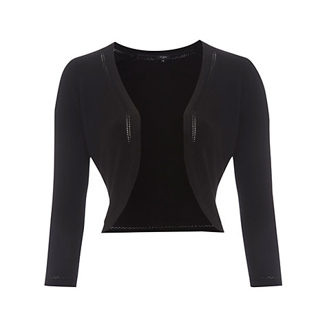 Buy Hobbs Madeline Bolero, Black Online at johnlewis.com