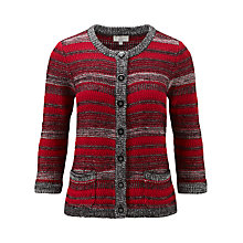 Buy CC Petite Space Dye Stripe Cardigan, Multi Online at johnlewis.com