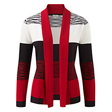 Buy CC Space Dye Tape Cardigan, Pillarbox Red Online at johnlewis.com