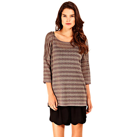Buy Oasis Crochet Sparkle Top Online at johnlewis.com