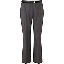 Buy CC Petite Belted Check Trousers, Black/Multi Online at johnlewis.com