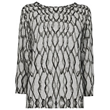 Buy Jaeger Chain Jumper, Grey Melange Online at johnlewis.com