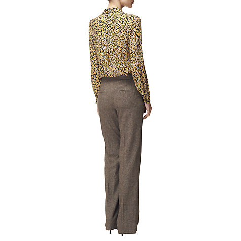 Buy Jaeger Parallel Leg Trousers, Brown Online at johnlewis.com