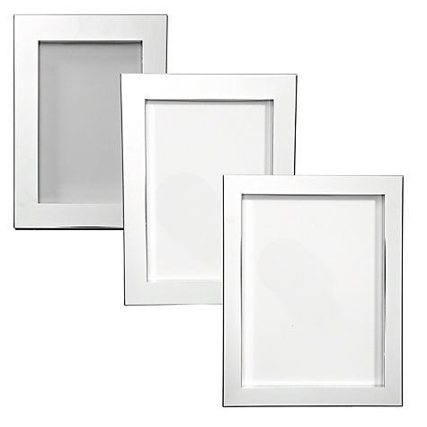 Buy John Lewis Silver Plated Box Photo Frame Online at johnlewis.com
