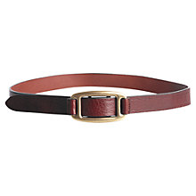 Buy Jigsaw Loop Buckle Belt, Red Online at johnlewis.com