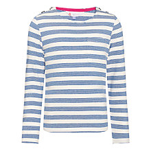 Buy John Lewis Girl Striped Boat Neck Top Online at johnlewis.com