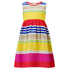 Buy John Lewis Girl Variegated Striped Dress, Multi Online at johnlewis.com