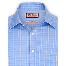 Buy Thomas Pink Morrison Check Shirt, Blue/White Online at johnlewis.com