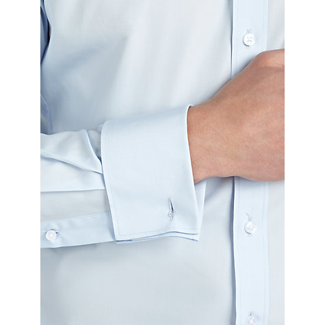 Buy Thomas Pink Slim Fit Solid Double Cuff Shirt Online at johnlewis.com