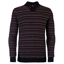 Buy Ted Baker Biggle Textured Jumper, Navy Online at johnlewis.com