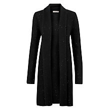 Buy Jigsaw Shimmer Cardigan, Black Online at johnlewis.com