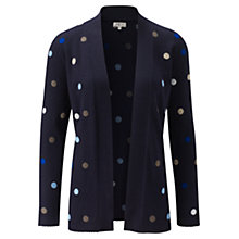 Buy CC Needle Punch Spot Cardigan, Navy Online at johnlewis.com