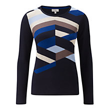 Buy CC Multilines Colour Block Jumper, Multi Online at johnlewis.com
