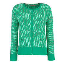 Buy John Lewis Painted Spotted Raglan Cardigan Online at johnlewis.com