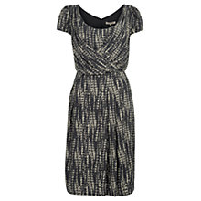 Buy Jigsaw Cosmic Print Dress, Black Online at johnlewis.com