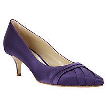Buy Hobbs Invitation Kiki Satin Pleated Court Shoe, Purple Online at johnlewis.com