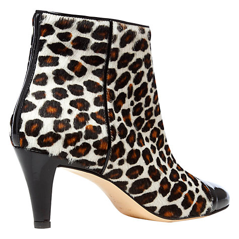 Buy Hobbs Mia Hair-On Leather Patent Toecap Ankle Boots, Multi Online at johnlewis.com