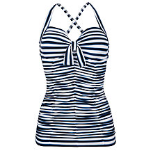 Buy Seafolly Seaview Tankini Top, Indigo Online at johnlewis.com