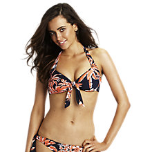 Buy Seafolly Tropical Beat Halterneck Bikini Top, Multi Online at johnlewis.com