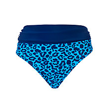 Buy John Lewis All Over Animal Fold Down Bikini Briefs, Blue Online at johnlewis.com