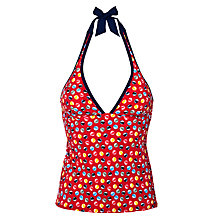 Buy John Lewis Beach Balls Tankini Top, Red Online at johnlewis.com