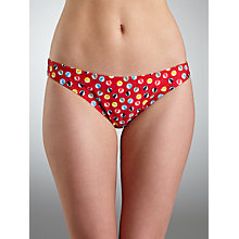 Buy John Lewis Beach Balls Bikini Briefs, Red Online at johnlewis.com