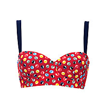 Buy John Lewis Beach Balls Bikini Top, Red Online at johnlewis.com