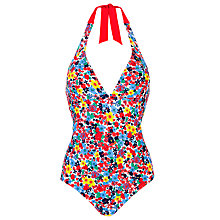 Buy John Lewis Garden Floral Halterneck Swimsuit, Multi Online at johnlewis.com