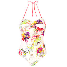 Buy Ted Baker Marra Floral Print Twist Front Swimsuit, Multi Online at johnlewis.com