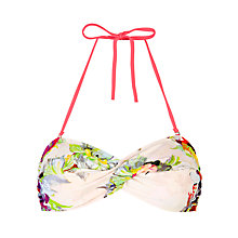 Buy Ted Baker Mirra Floral Print Bandeau Bikini Top, Multi Online at johnlewis.com