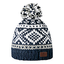 Buy Barts Log Cabin Beanie Hat, One Size, Navy Online at johnlewis.com