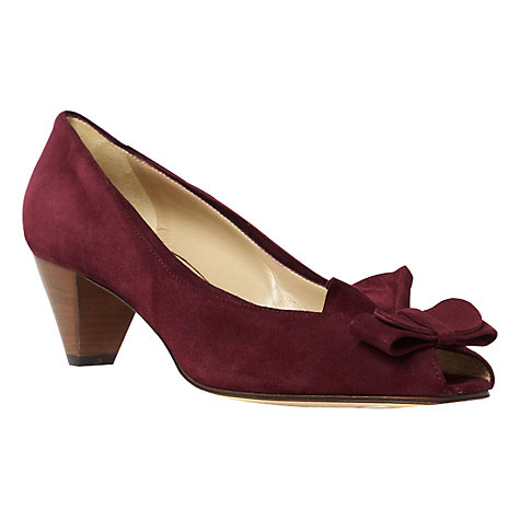 Buy Hobbs Honi Suede Peep Toe Court Shoes Online at johnlewis.com