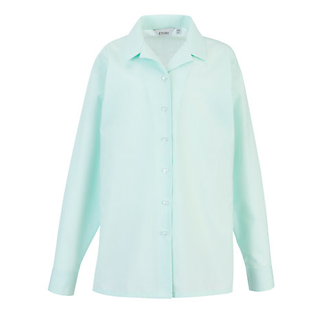 Buy Copthall School Girls' Long Sleeved Blouse, Pack of 2, Mint Online at johnlewis.com