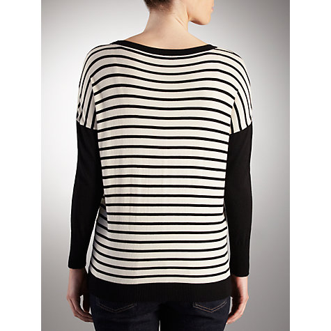 Buy Weekend by MaxMara Ornati Stripey Jumper, Milk Online at johnlewis.com