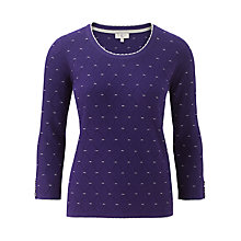 Buy CC Honeycomb Jumper, Aubergine Online at johnlewis.com
