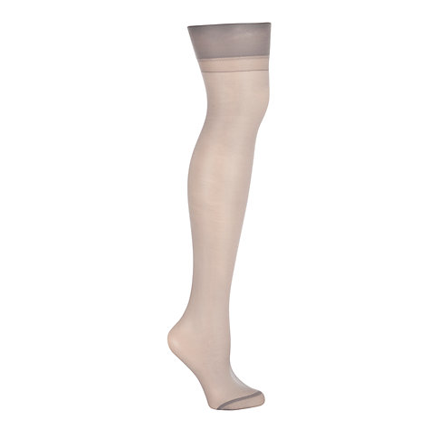 Buy John Lewis 15 Denier Sheer Sheer Stockings, Pewter Online at johnlewis.com