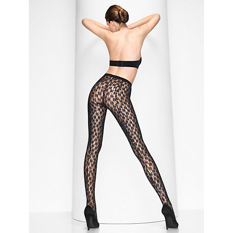 Buy Wolford Florianne Tights, Black Online at johnlewis.com