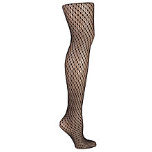 Buy Wolford Sylvia Dot Patterned Tights, Black Online at johnlewis.com