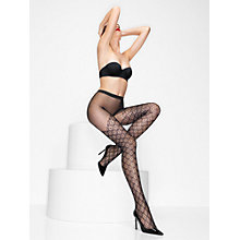 Buy Wolford Romina Grid Pattern Tights, Black Online at johnlewis.com
