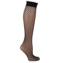 Buy Wolford Sylvia Patterned Knee Highs, Black Online at johnlewis.com
