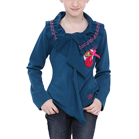 Buy Desigual Piña Sweatshirt, Blue Online at johnlewis.com